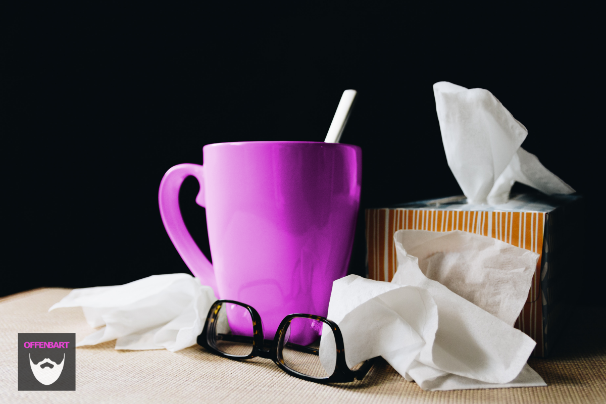 Bildnachweis: Sick Day accessories by Kelly Sikkema Unsplash.com License, bearbeitet von Simon Mallow.