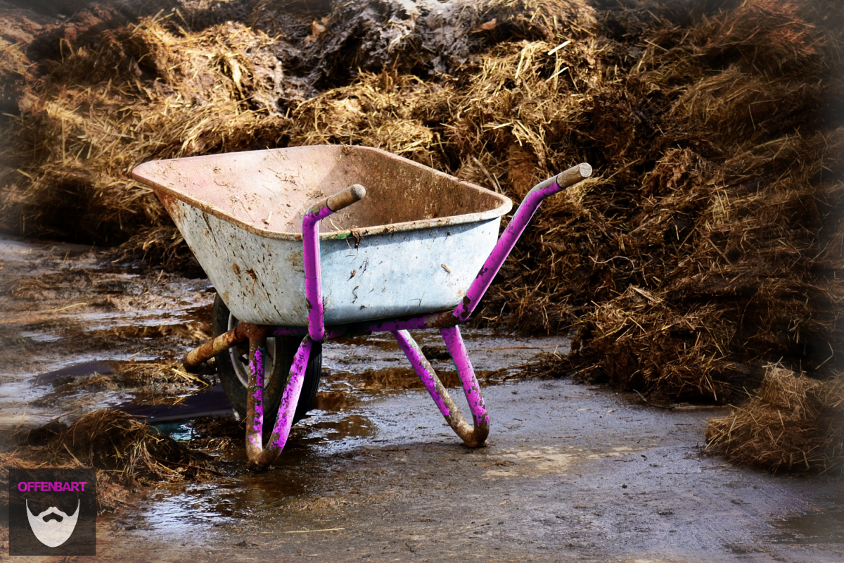 Bildnachweis: Cart Work Transport Wheelbarrow Pushing Barrow by Max Pixel CC0 1.0, bearbeitet von Lukas Klette.