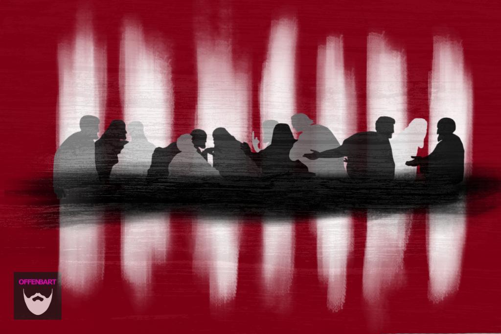 Bildnachweis: The Last Supper by Giampietrino CC-PDM 1.0, bearbeitet von Simon Mallow.